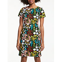 Buy Boden Carina Large Forest Dress, Black/Multi Online at johnlewis.com