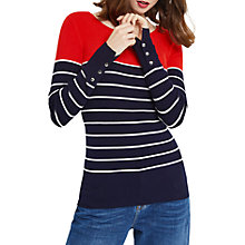 Buy Oasis Colourblock Striped Jumper, Multi/Red Online at johnlewis.com