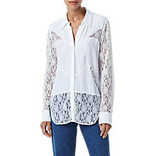 Buy Finery Finsbury Lace Blouse, Ivory Online at johnlewis.com