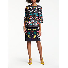 Buy Boden Aria Folklore Top, Black Online at johnlewis.com