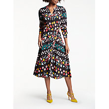 Buy Boden Jessica Dress, Black Folklore Print Online at johnlewis.com