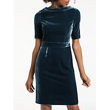 Buy Boden Martha Velvet Shift Dress, Navy Online at johnlewis.com