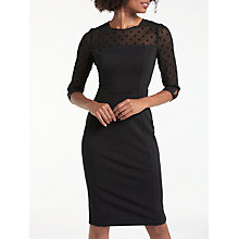 Buy Boden Isabella Ponte Dress, Black Online at johnlewis.com