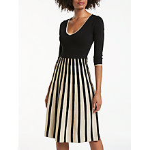 Buy Boden Kiera Party Dress, Black/Gold Online at johnlewis.com