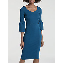 Buy Boden Betty Ponte Flared Sleeve Pencil Dress, Blue Teal Online at johnlewis.com