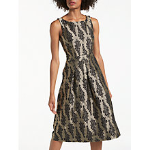 Buy Boden Jacquard Party Dress, Pewter/Black Online at johnlewis.com