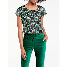 Buy Boden Ravello Silk Blend Printed Top, Raven Spring Online at johnlewis.com