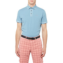 Buy Ted Baker Golf Offset Polo Shirt, Blue Online at johnlewis.com