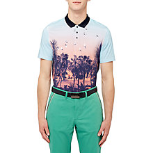 Buy Ted Baker Golf Hosal Polo Shirt, Light Blue Online at johnlewis.com