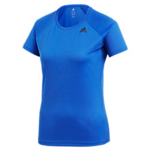Buy Adidas D2M Short Sleeve Training Top, High Resolution Blue Online at johnlewis.com