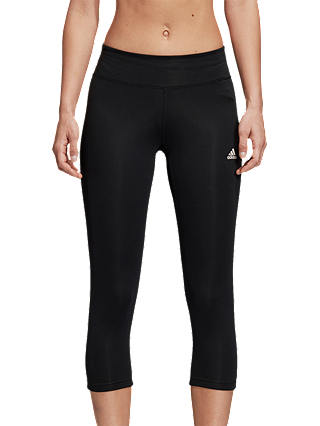 Buy adidas D2M 3/4 Capri Training Tights, Black, Black, XS Online at johnlewis.com