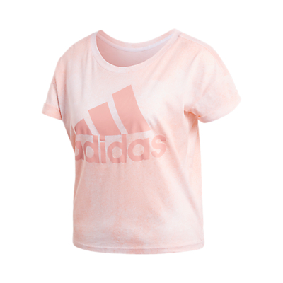 adidas Essentials All Over Print T-Shirt, Pink