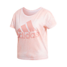 Buy adidas Essentials All Over Print T-Shirt, Pink Online at johnlewis.com