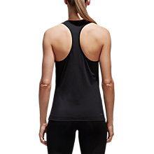 Buy Adidas D2M Solid Training Tank, Black Online at johnlewis.com