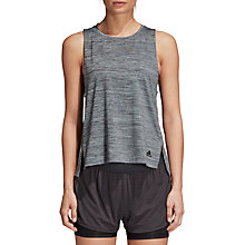 Buy Adidas Boxy Melange Training Tank Top, Ash Grey Online at johnlewis.com