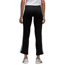 Buy adidas 3-Stripe Brushed Jersey Full Length Capris, Black Online at johnlewis.com