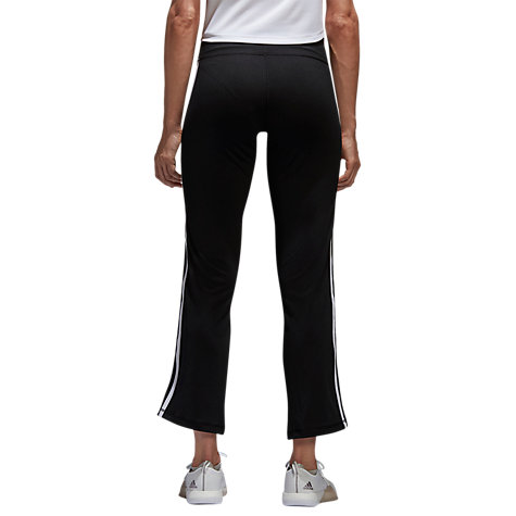 Buy adidas 3-Stripe Brushed Jersey Trousers, Black Online at johnlewis.com