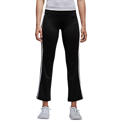 adidas 3-Stripe Brushed Jersey Trousers, Black