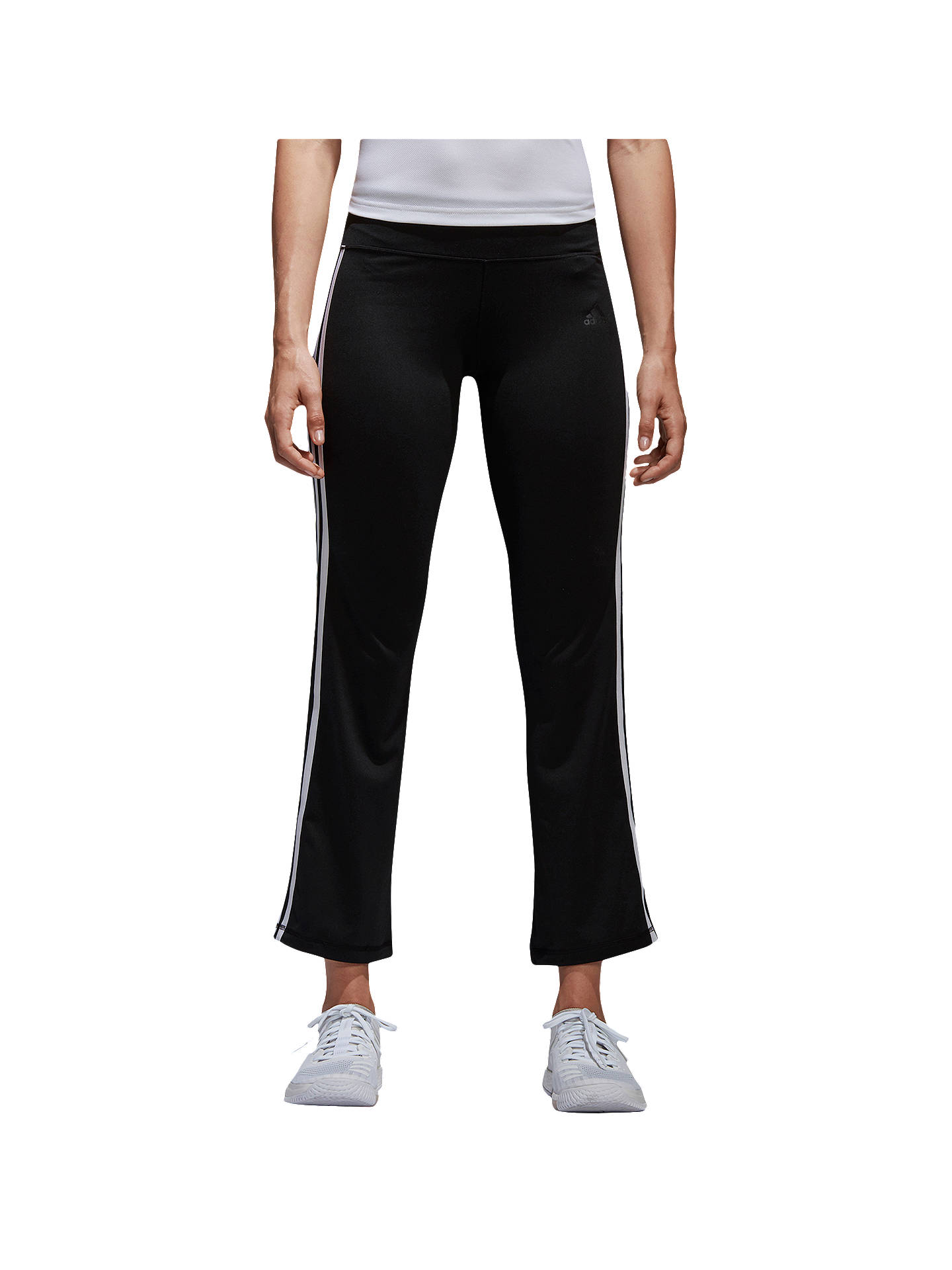 8dc5552bd Buy adidas 3-Stripe Brushed Jersey Trousers, Black, XS Online at johnlewis.