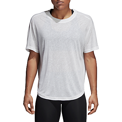 adidas Light and Soft Short Sleeve Training T-Shirt, White