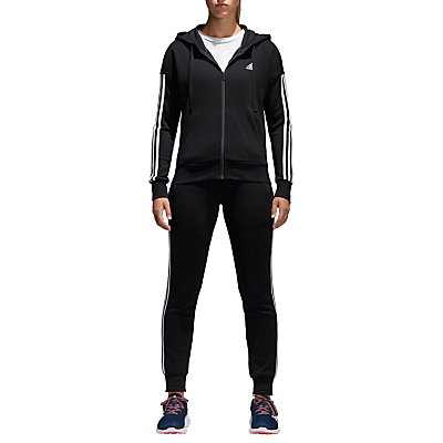 adidas Essentials 3-Stripes Hoodie, Black