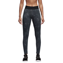 Buy adidas ID Printed Tights, Grey Online at johnlewis.com