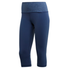 Buy adidas Believe This High-Rise Printed Capris, Noble Indigo Online at johnlewis.com