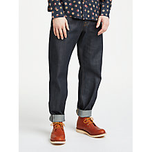 Buy JOHN LEWIS & Co. Unwashed Selvedge Denim Jeans, Blue Online at johnlewis.com