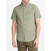 Buy JOHN LEWIS & Co. Textured Stripe Short-Sleeve Shirt, Green Online at johnlewis.com