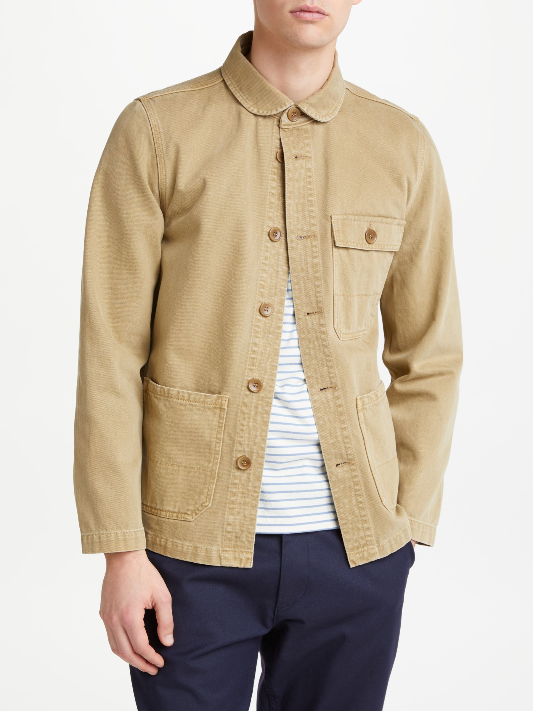 JOHN LEWIS & Co. French Workwear Jacket, Stone at John Lewis & Partners