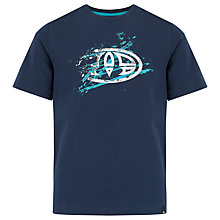 Buy Animal Boys' Triton Logo T-Shirt, Navy Online at johnlewis.com
