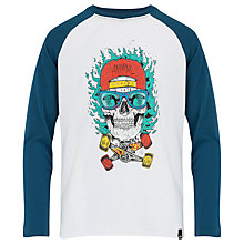 Buy Animal Boys' Long Sleeve Barth T-Shirt, Blue Online at johnlewis.com