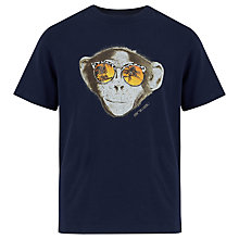 Buy Animal Boys' Thilo Monkey Graphic T-Shirt, Navy Online at johnlewis.com