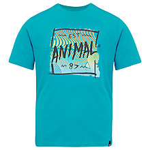 Buy Animal Boys' Thaw Logo T-Shirt, Blue Online at johnlewis.com