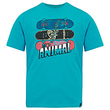 Buy Animal Boys' Snapp Skateboard T-Shirt, Blue Online at johnlewis.com