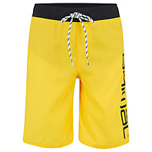 Buy Animal Boys' Tannar Board Shorts, Yellow Online at johnlewis.com