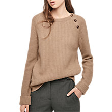 Buy Gerard Darel Louka Long Sleeve Jumper, Beige Online at johnlewis.com