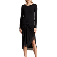 Buy AllSaints Riviera Miro Long Sleeve Dress, Black Online at johnlewis.com