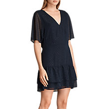 Buy AllSaints Marley Shimmer Dress, Mystic Blue Online at johnlewis.com