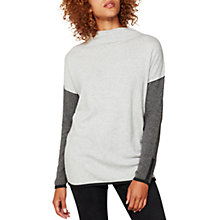 Buy Mint Velvet Funnel Neck Boxy Knitted Jumper, Multi Online at johnlewis.com
