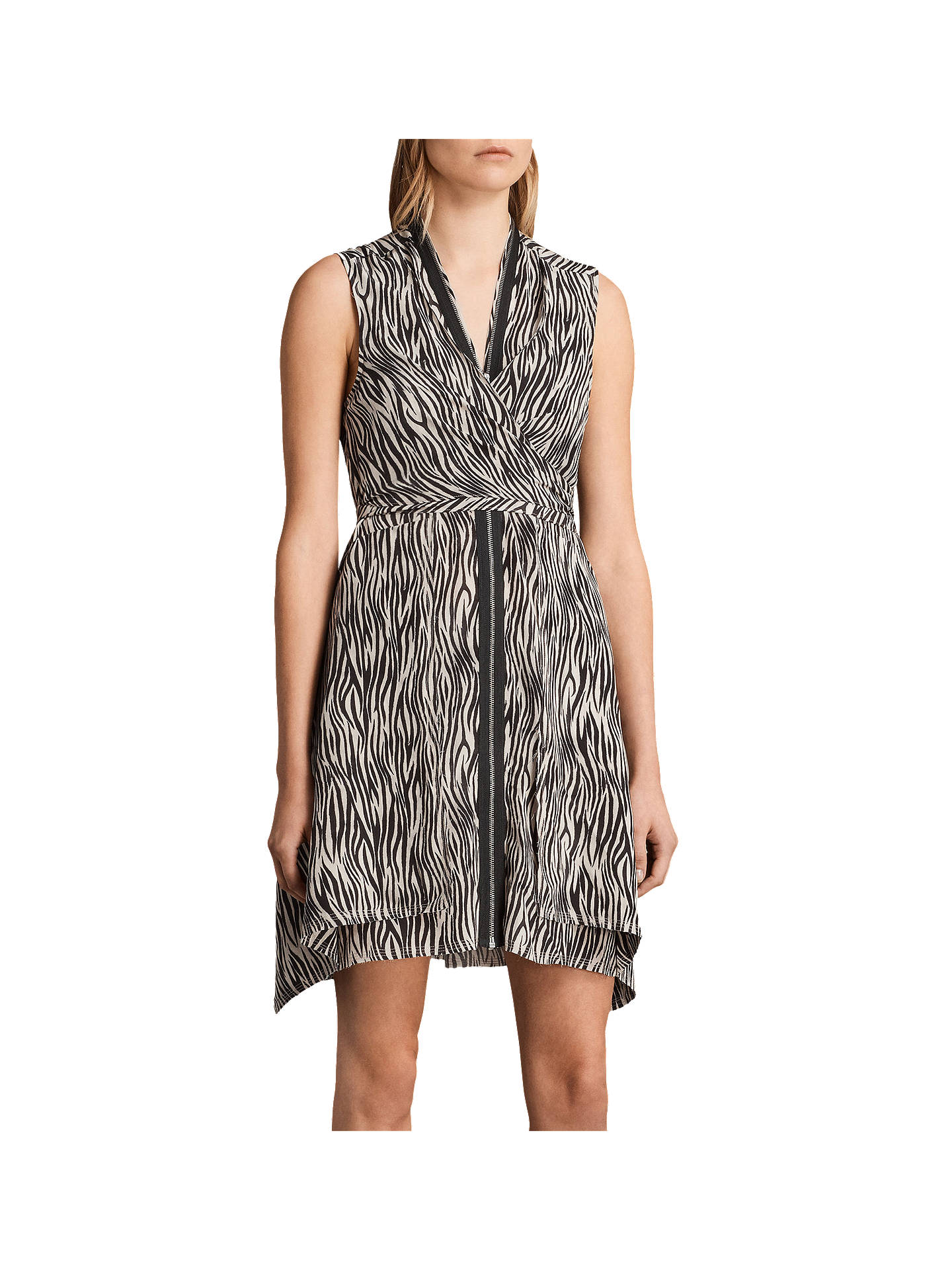 29009861bbe1ae Buy AllSaints Jayda Silk Zebra Dress