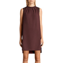 Buy AllSaints Jay Dress, Bordeaux Red Online at johnlewis.com