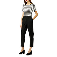 Buy Warehouse Classic Slim Leg Trousers, Black Online at johnlewis.com