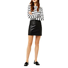 Buy Warehouse Faux Leather Mini Skirt, Black Online at johnlewis.com