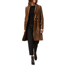 Buy L.K. Bennett Dia Animal Print Coat, Multi Online at johnlewis.com
