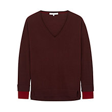 Buy Gerard Darel V Neck Rounde Contrast Cuff Merino Wool Jumper Online at johnlewis.com