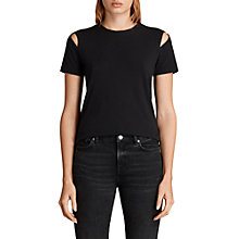 Buy AllSaints Dani Short Sleeve T-Shirt, Black Online at johnlewis.com
