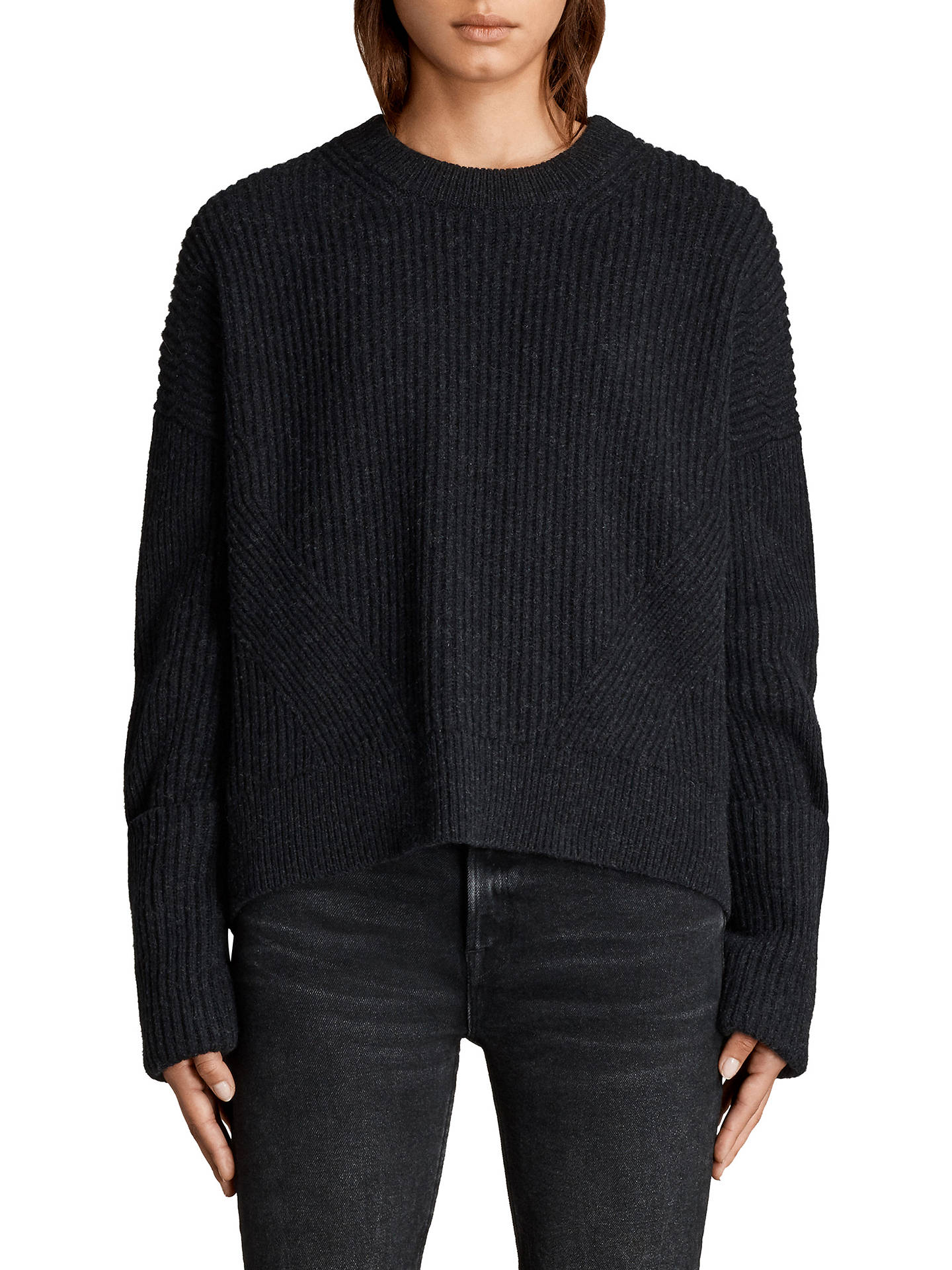AllSaints Pierce Wool Blend Crew Jumper at John Lewis & Partners