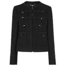 Buy L.K.Bennett Otto Military Jacket, Black Online at johnlewis.com