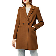 Buy Warehouse Clean Crombie Long Sleeve Coat Online at johnlewis.com
